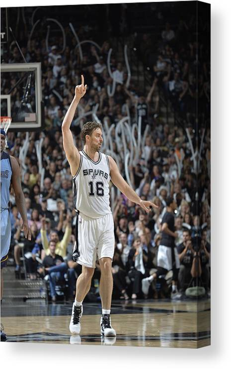 Playoffs Canvas Print featuring the photograph Pau Gasol by Mark Sobhani