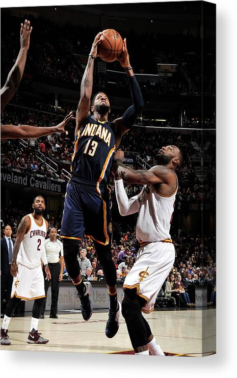Nba Pro Basketball Canvas Print featuring the photograph Paul George by David Liam Kyle