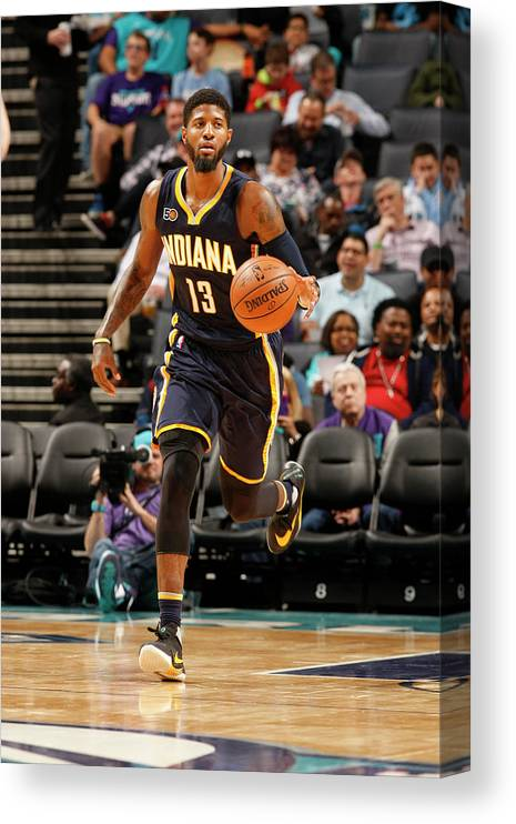 Nba Pro Basketball Canvas Print featuring the photograph Paul George by Kent Smith
