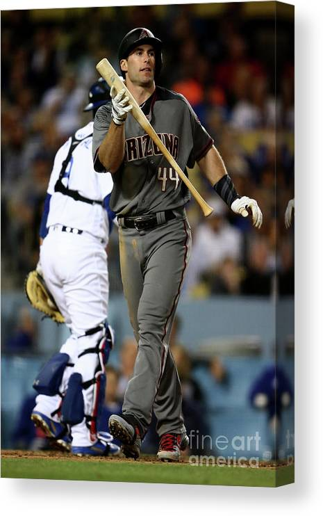 People Canvas Print featuring the photograph Paul Goldschmidt by Sean M. Haffey