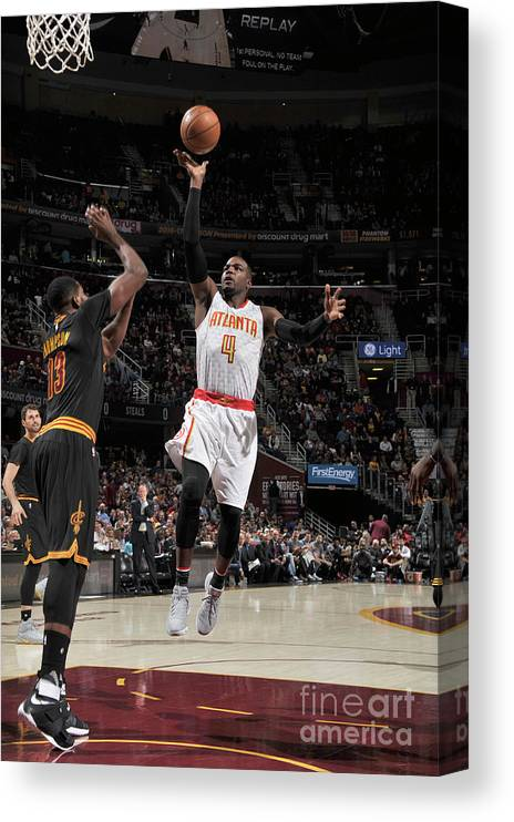Nba Pro Basketball Canvas Print featuring the photograph Paul Millsap by David Liam Kyle