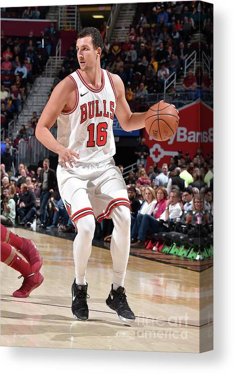 Nba Pro Basketball Canvas Print featuring the photograph Paul Zipser by David Liam Kyle