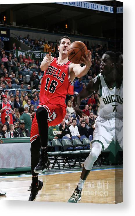 Nba Pro Basketball Canvas Print featuring the photograph Paul Zipser by Gary Dineen