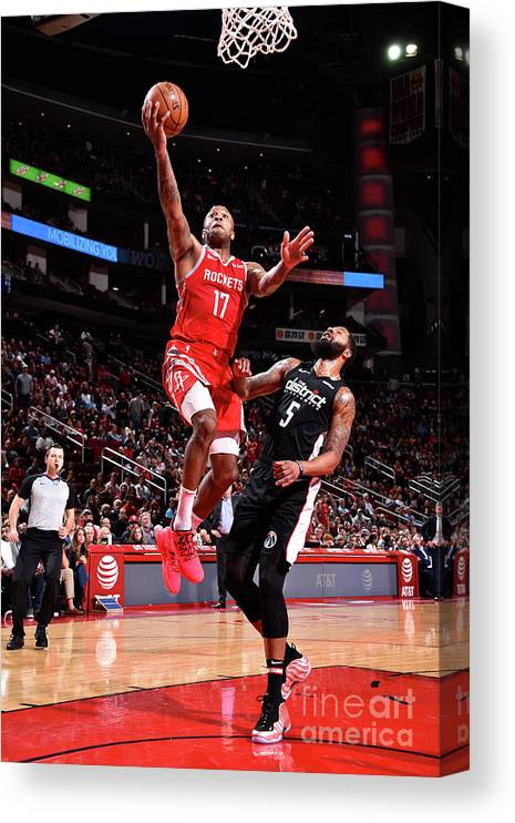 Nba Pro Basketball Canvas Print featuring the photograph P.j. Tucker and Markieff Morris by Bill Baptist