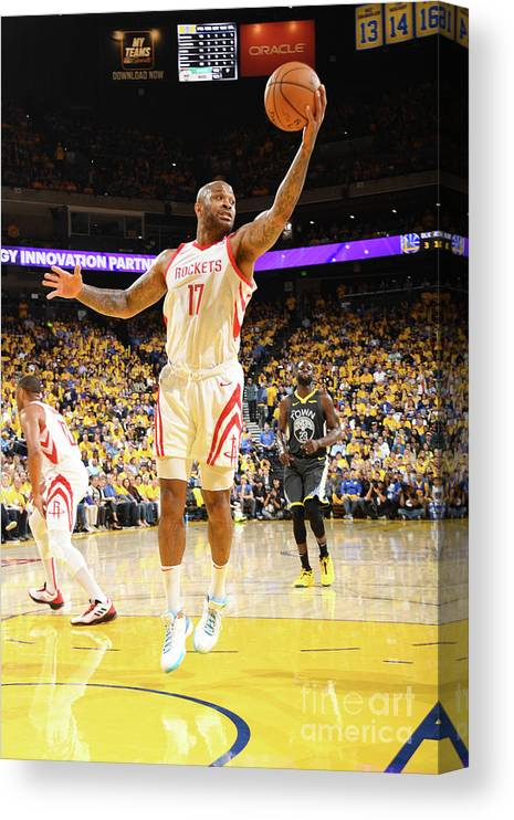 Playoffs Canvas Print featuring the photograph P.j. Tucker by Andrew D. Bernstein