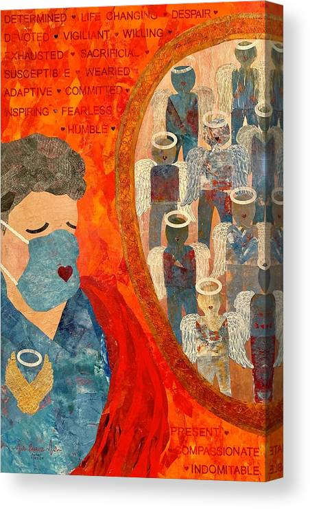 Nursing Canvas Print featuring the painting Power of Nursing Through Despair by Forrest Fortier