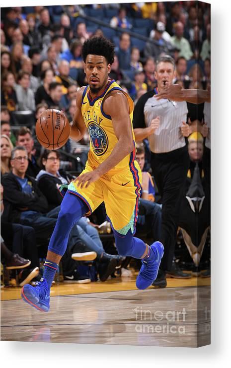 Nba Pro Basketball Canvas Print featuring the photograph Quinn Cook by Garrett Ellwood