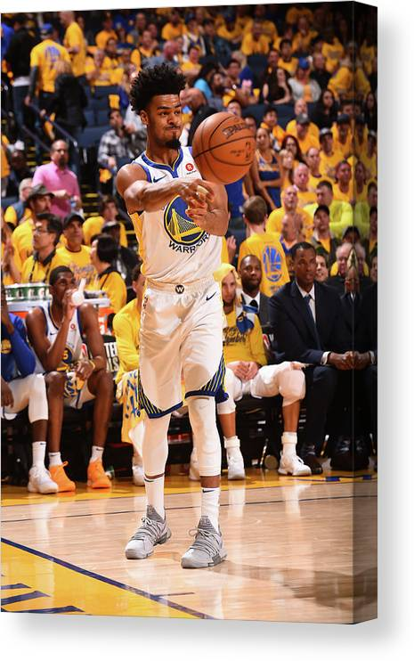 Playoffs Canvas Print featuring the photograph Quinn Cook by Noah Graham