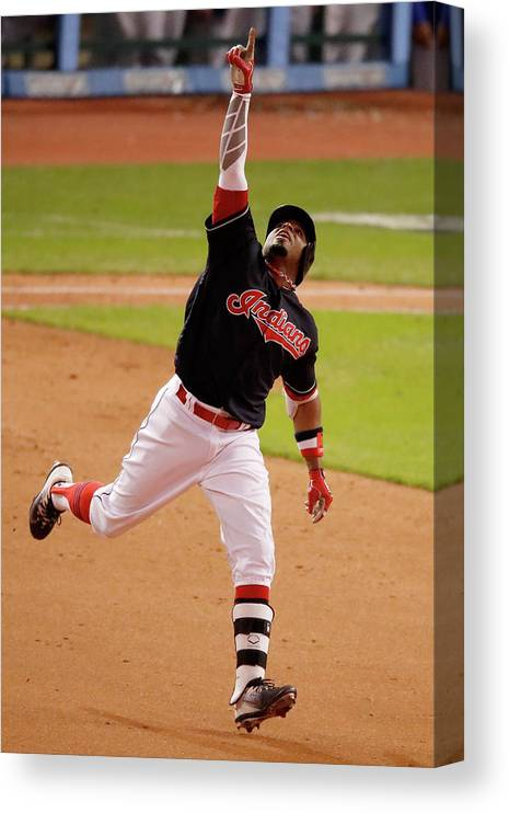 People Canvas Print featuring the photograph Rajai Davis by Gregory Shamus