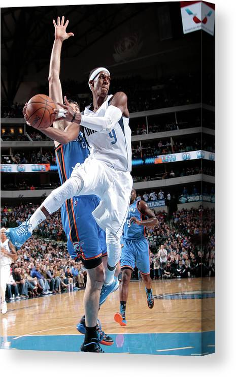Nba Pro Basketball Canvas Print featuring the photograph Rajon Rondo by Glenn James