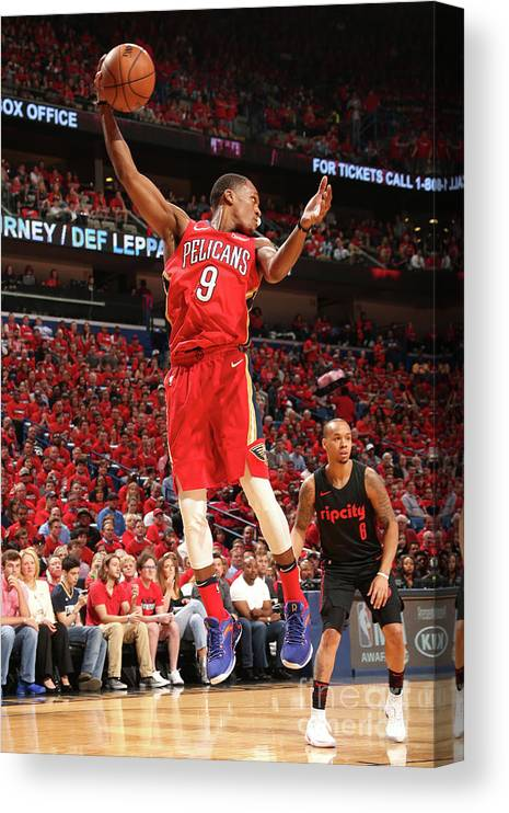 Smoothie King Center Canvas Print featuring the photograph Rajon Rondo by Layne Murdoch
