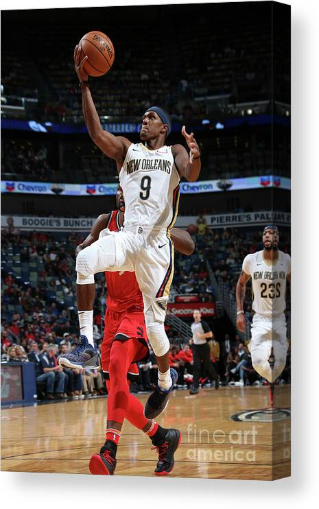Smoothie King Center Canvas Print featuring the photograph Rajon Rondo by Layne Murdoch Jr.