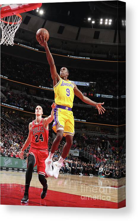 Nba Pro Basketball Canvas Print featuring the photograph Rajon Rondo by Nathaniel S. Butler