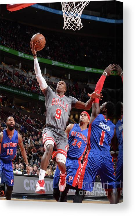 Nba Pro Basketball Canvas Print featuring the photograph Rajon Rondo by Randy Belice