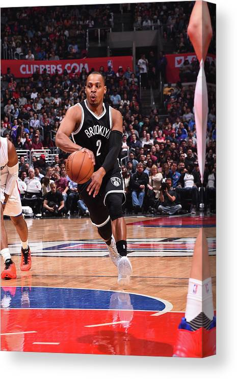 Nba Pro Basketball Canvas Print featuring the photograph Randy Foye by Andrew D. Bernstein