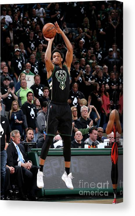 Playoffs Canvas Print featuring the photograph Rashad Vaughn by Gary Dineen