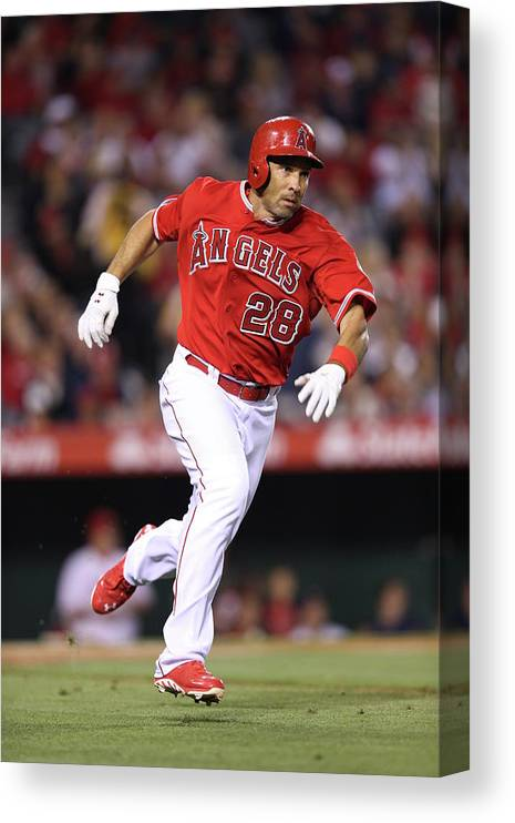 American League Baseball Canvas Print featuring the photograph Raul Ibanez by Paul Spinelli