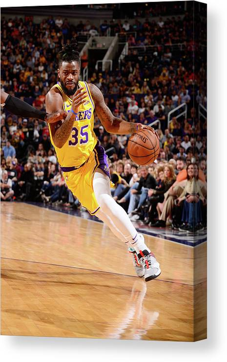 Nba Pro Basketball Canvas Print featuring the photograph Reggie Bullock by Barry Gossage