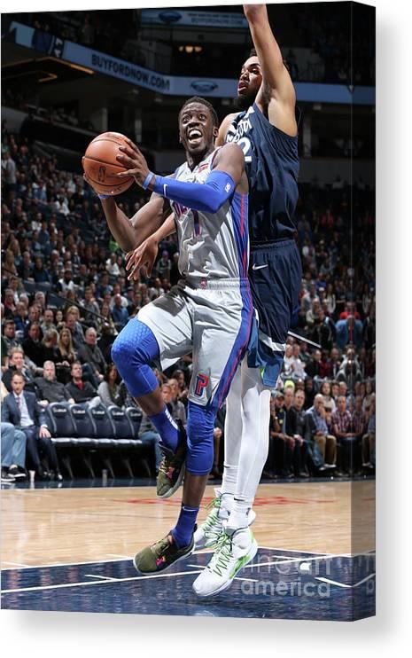 Nba Pro Basketball Canvas Print featuring the photograph Reggie Jackson by David Sherman