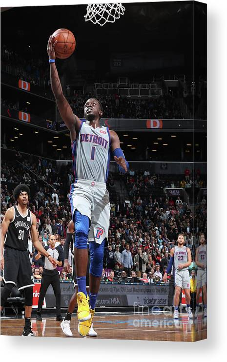 Nba Pro Basketball Canvas Print featuring the photograph Reggie Jackson by Nathaniel S. Butler