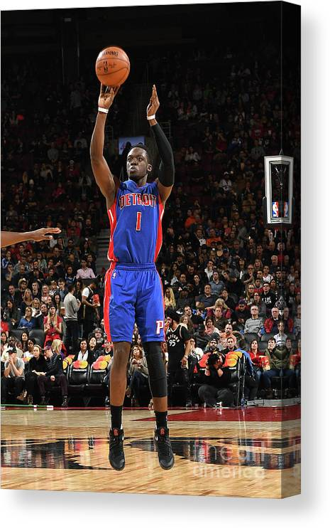 Nba Pro Basketball Canvas Print featuring the photograph Reggie Jackson by Ron Turenne