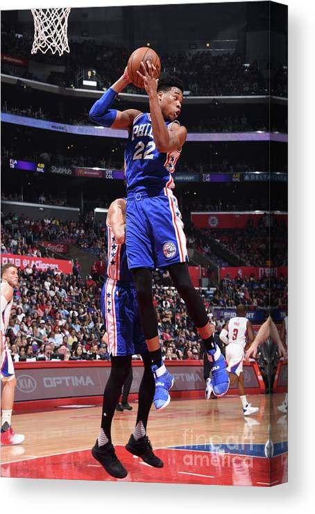 Nba Pro Basketball Canvas Print featuring the photograph Richaun Holmes by Andrew D. Bernstein