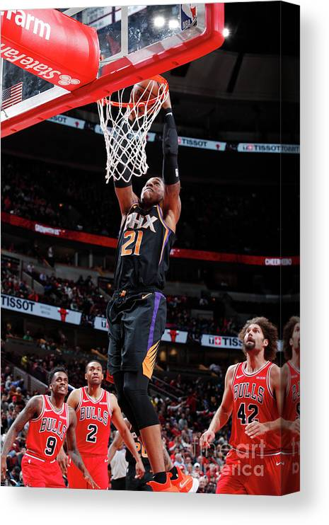 Nba Pro Basketball Canvas Print featuring the photograph Richaun Holmes by Jeff Haynes