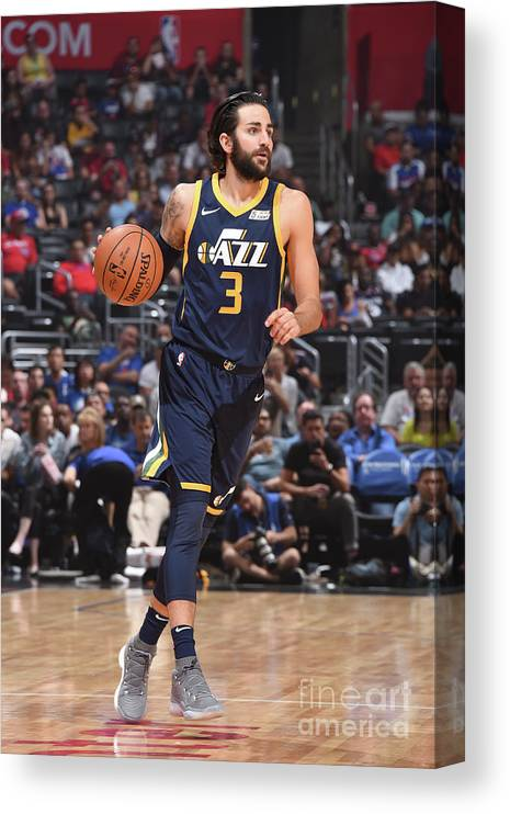 Nba Pro Basketball Canvas Print featuring the photograph Ricky Rubio by Andrew D. Bernstein