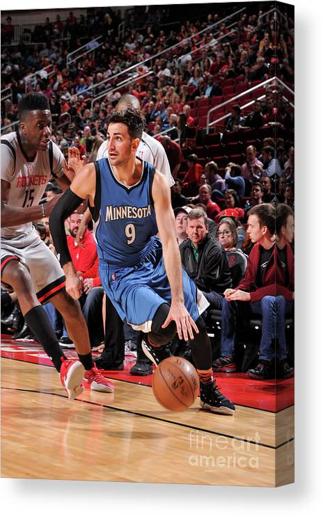 Nba Pro Basketball Canvas Print featuring the photograph Ricky Rubio by Bill Baptist