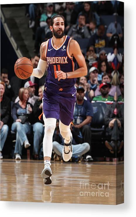 Nba Pro Basketball Canvas Print featuring the photograph Ricky Rubio by Joe Murphy