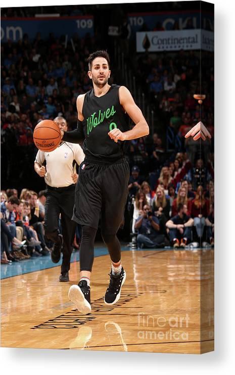 Nba Pro Basketball Canvas Print featuring the photograph Ricky Rubio by Layne Murdoch