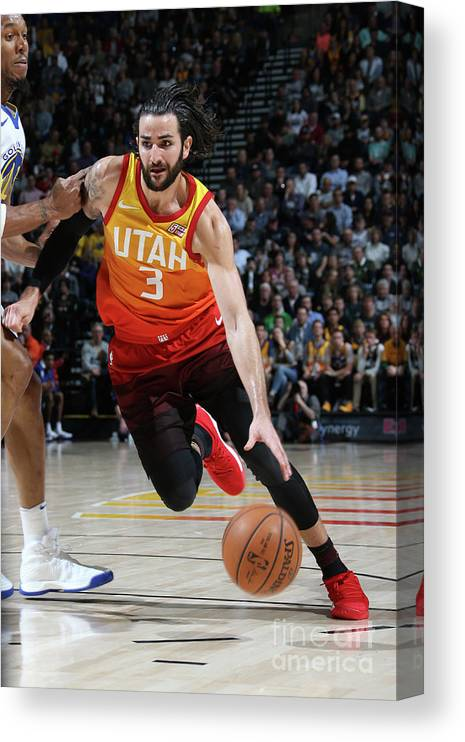 Nba Pro Basketball Canvas Print featuring the photograph Ricky Rubio by Melissa Majchrzak