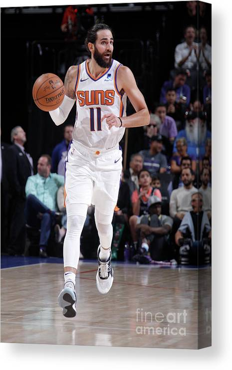 Nba Pro Basketball Canvas Print featuring the photograph Ricky Rubio by Rocky Widner