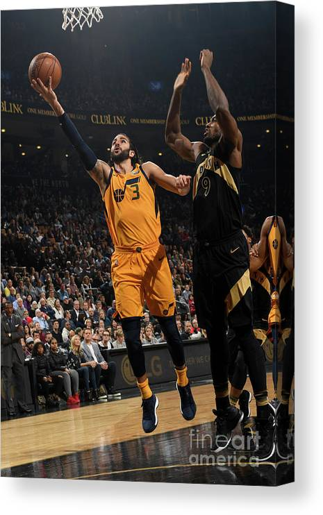 Nba Pro Basketball Canvas Print featuring the photograph Ricky Rubio by Ron Turenne