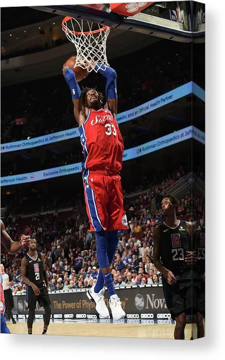 Nba Pro Basketball Canvas Print featuring the photograph Robert Covington by David Dow