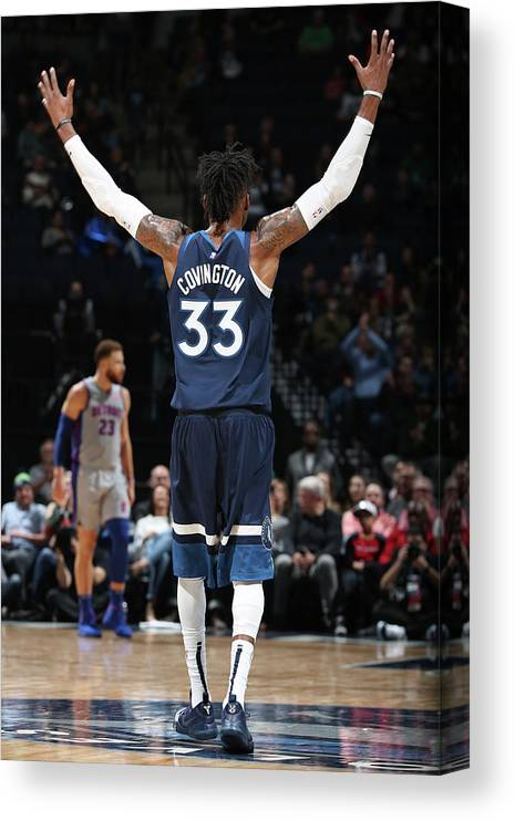 Nba Pro Basketball Canvas Print featuring the photograph Robert Covington by David Sherman