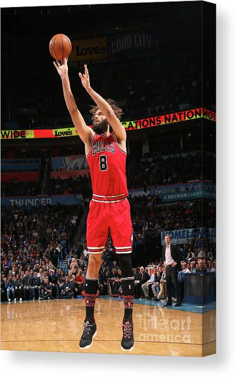 Nba Pro Basketball Canvas Print featuring the photograph Robin Lopez by Layne Murdoch