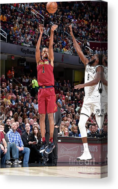 Nba Pro Basketball Canvas Print featuring the photograph Rodney Hood by David Liam Kyle