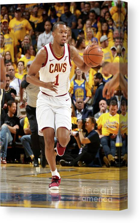 Playoffs Canvas Print featuring the photograph Rodney Hood by Nathaniel S. Butler
