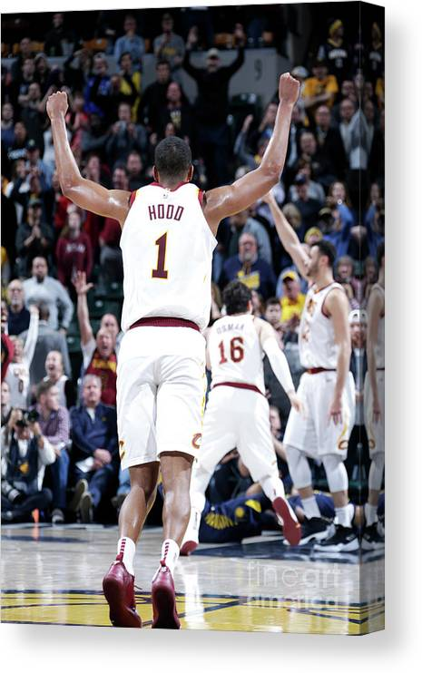 Nba Pro Basketball Canvas Print featuring the photograph Rodney Hood by Ron Hoskins