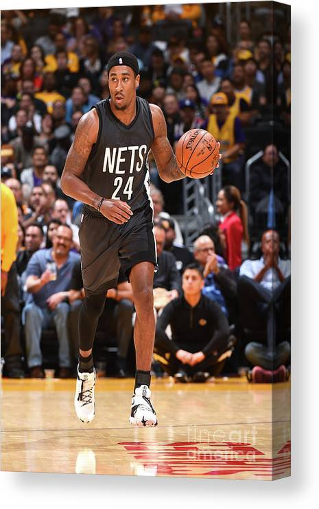 Nba Pro Basketball Canvas Print featuring the photograph Rondae Hollis-jefferson by Andrew D. Bernstein