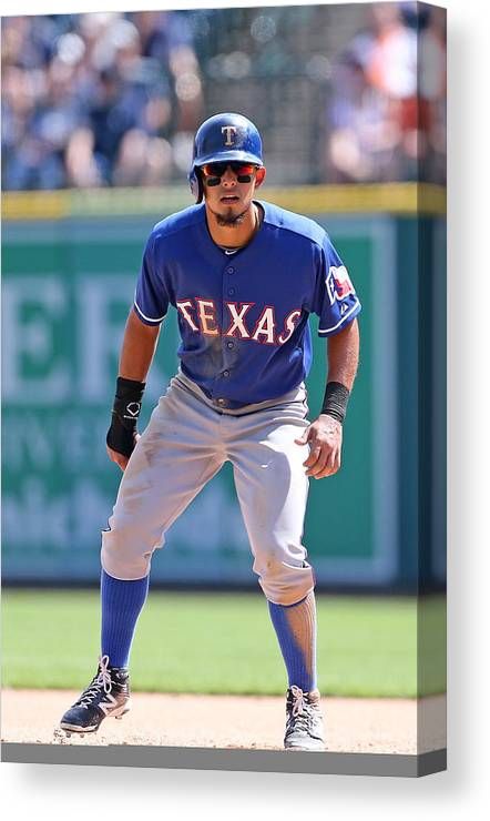 American League Baseball Canvas Print featuring the photograph Rougned Odor by Leon Halip