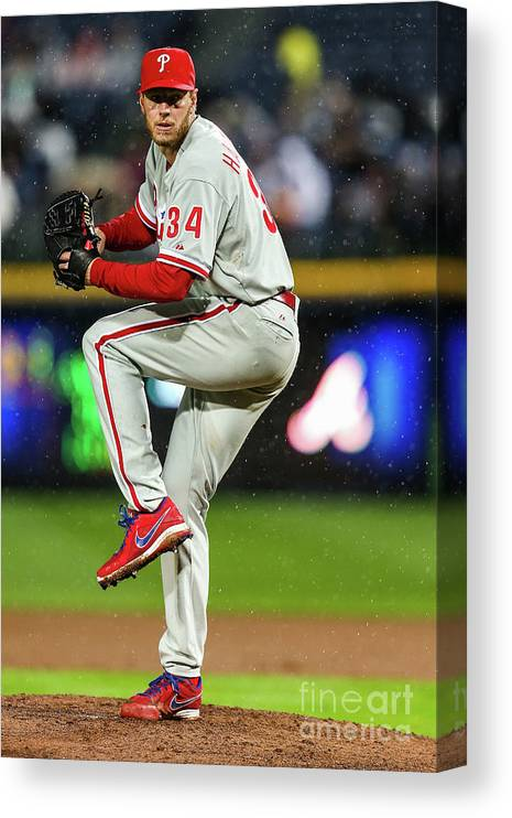 Atlanta Canvas Print featuring the photograph Roy Halladay by Daniel Shirey