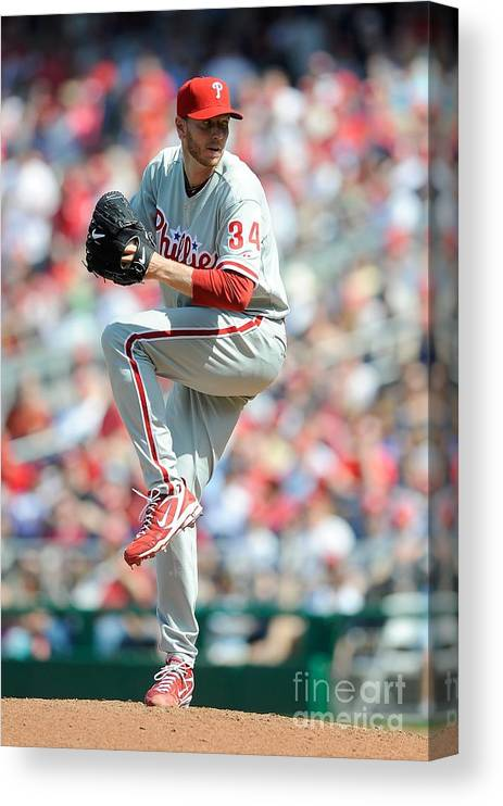 Baseball Pitcher Canvas Print featuring the photograph Roy Halladay by G Fiume