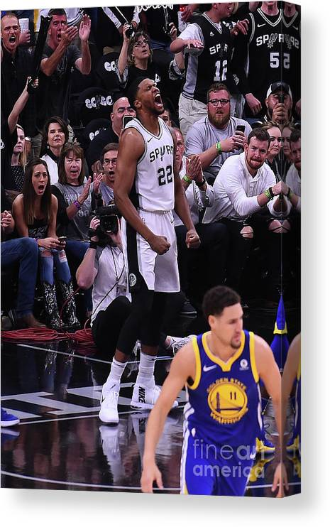 Playoffs Canvas Print featuring the photograph Rudy Gay by Noah Graham