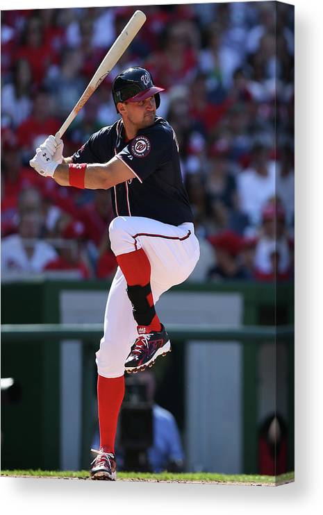 Ryan Zimmerman - Baseball Player Canvas Print featuring the photograph Ryan Zimmerman by Patrick Smith