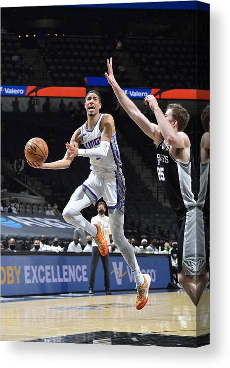 Nba Pro Basketball Canvas Print featuring the photograph Sacramento Kings v San Antonio Spurs by Logan Riely