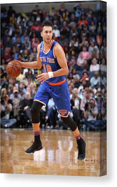 Nba Pro Basketball Canvas Print featuring the photograph Sasha Vujacic by Joe Murphy