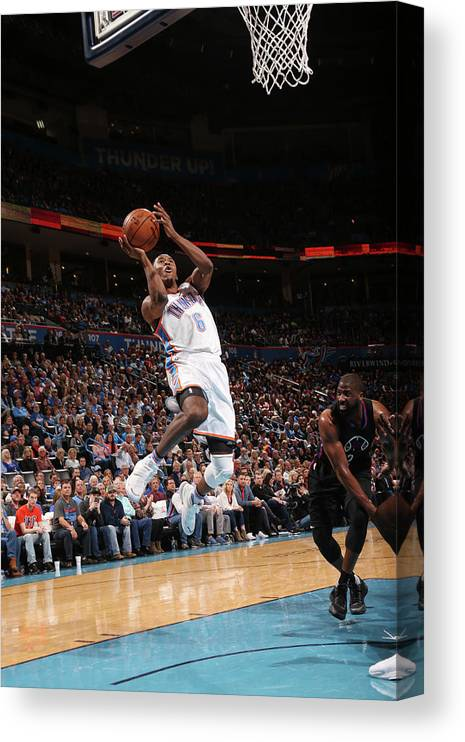 Nba Pro Basketball Canvas Print featuring the photograph Semaj Christon by Layne Murdoch