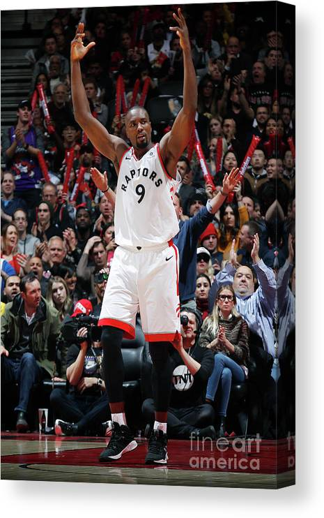 Nba Pro Basketball Canvas Print featuring the photograph Serge Ibaka by Mark Blinch